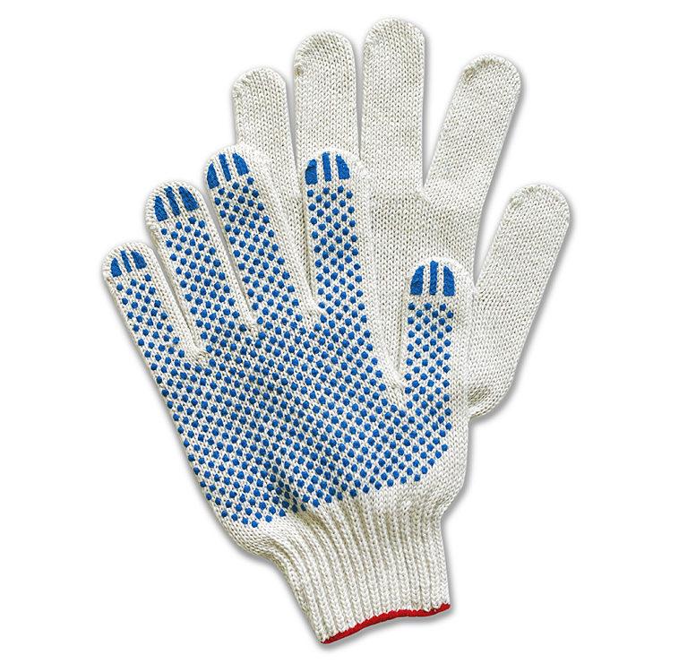 Перчатки ХБ с ПВХ  7 класс, 28-30гр