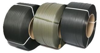 Полипропиленовая стреппинг лента серая/черная (ручная/полуавтомат)
