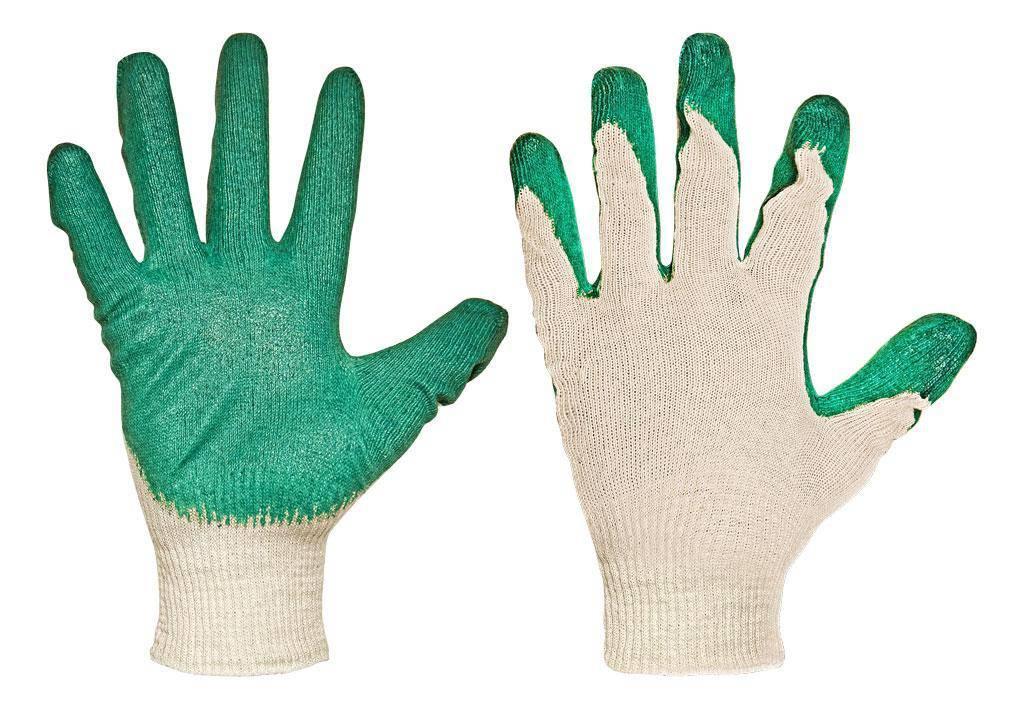 Перчатки ХБ с одинарным латексным обливом 13 класс «Люкс»