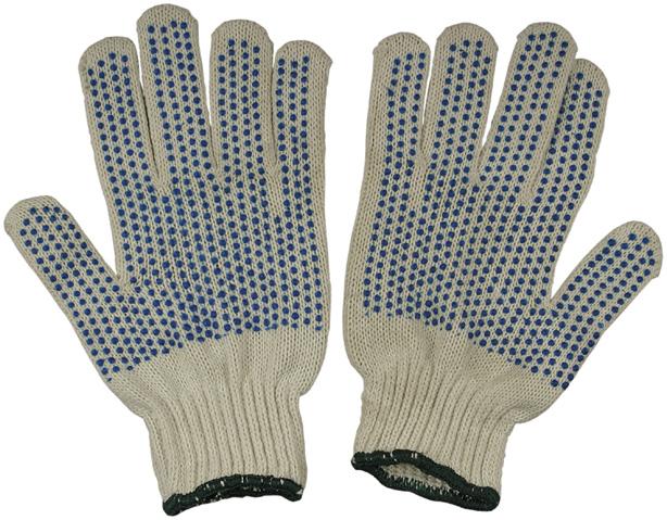 Перчатки ХБ с ПВХ 10 класс 40-42гр