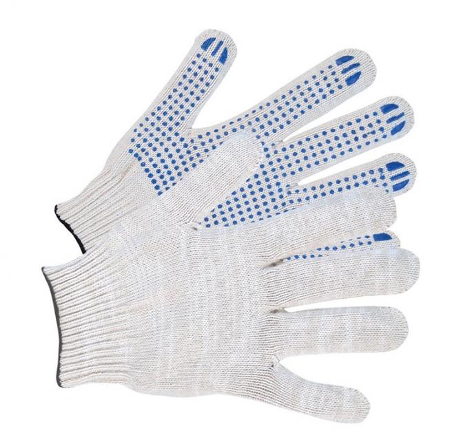 Перчатки ХБ с ПВХ 7 класс 35-40гр