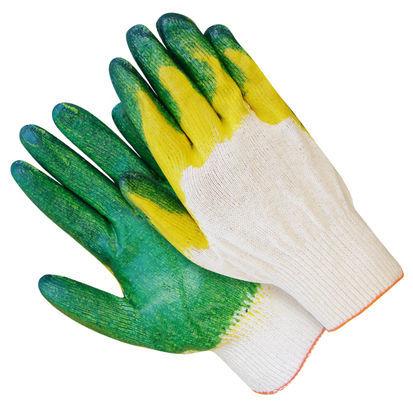 Перчатки ХБ с двойным латексным обливом 13 класс «Люкс»